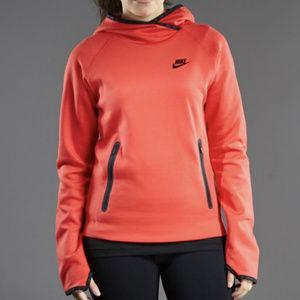Nike Tech Fleece Funnel Hoody Red L